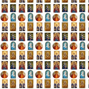 mary icons 1.5 x 2 approx
