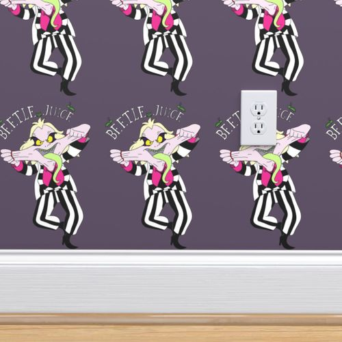Funny Face Beetlejuice Spoonflower