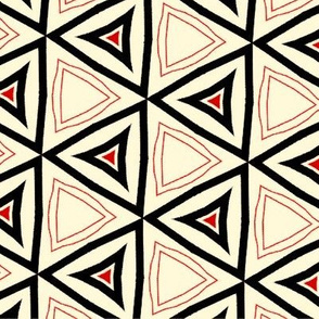 Red Black White Triangles