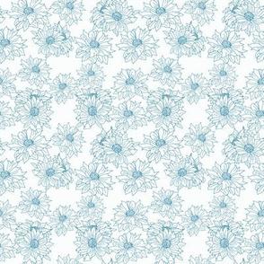 mums blue on white