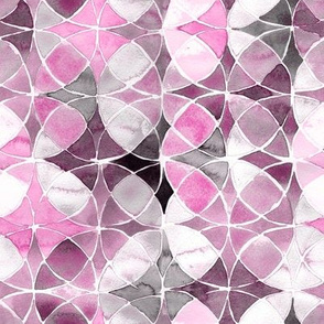 Watercolor Geo Mauve Pink