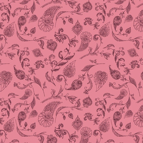 Two Tone Paisley Pink