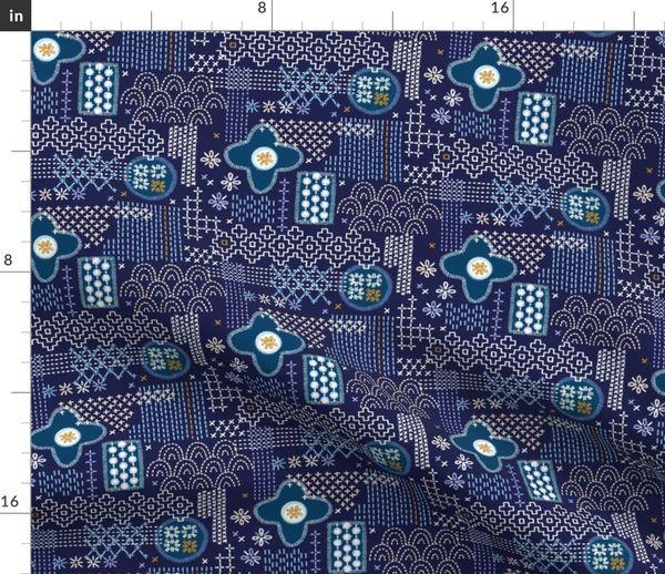 6056858 fauxboro jackie blue embroidery stitch stitching needlepoint needlework boro japanese collage g by pennycandy