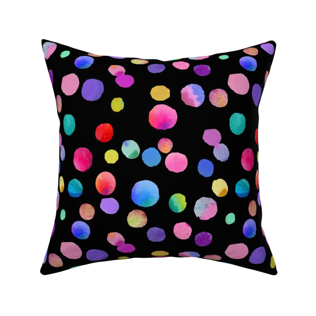 Catalan Throw Pillow featuring Little Drops of Love // Black  by theartwerks