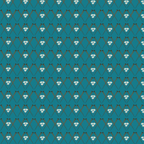 Knitting Accent Teal & Flowers