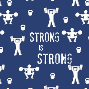 Strong is Strong - Navy - Gym and Fitness