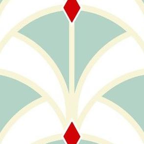 Mint Art Deco Ribbon Weave Mermaid Tail
