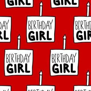 Birthday Girl Red - Large