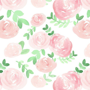 soft floral baby  pink watercolor flower