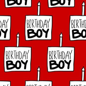 Birthday Boy Red - Large