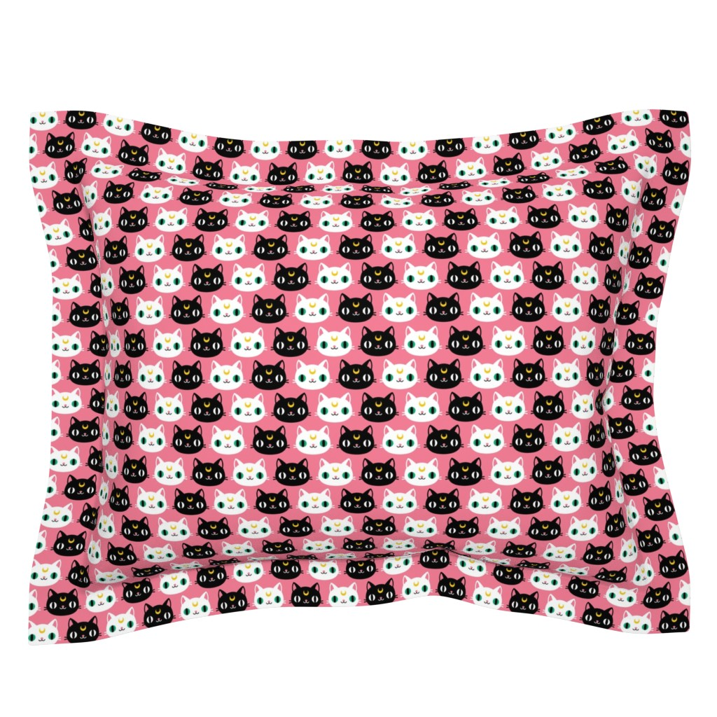 Sebright Pillow Sham featuring Luna and Artemis by emandsprout