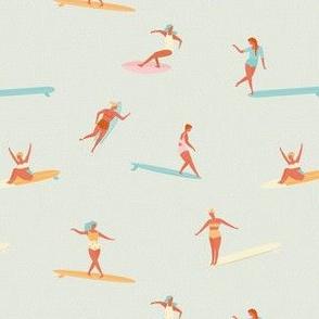 Girls surfers beige