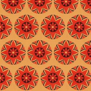 mid century floral