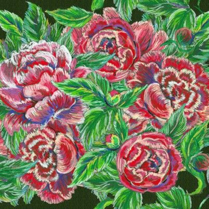 Embroidery with roses