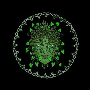 Green Woman Celtic Small
