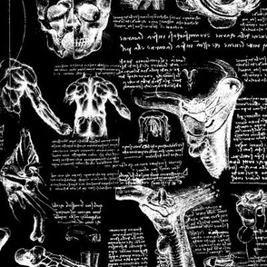 Da Vinci's Anatomy Sketchbook //  Black // Small
