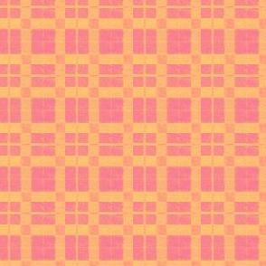 Orange Plaid X-SML
