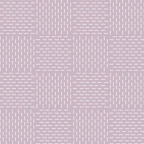 faux sashiko weave on mauve