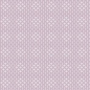 sashiko diamonds on mauve