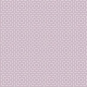 faux sashiko squares on mauve