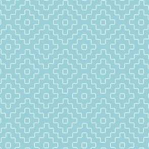 faux sashiko plus on light blue