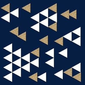 gold glitter navy triangle town