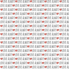 Love always red heart Large