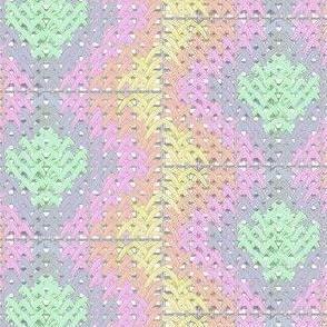 rainbow silk stitches