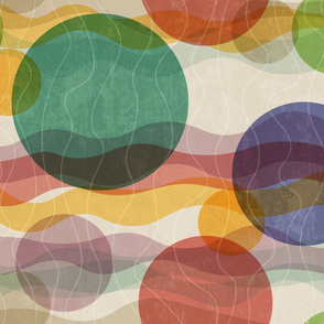 Cheater Quilt 'Floating Bubbles' vintage