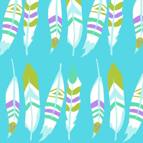 Tiger Lily's Painted Feathers (Blue)