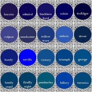 Peacoquette Designs Palette ~ Dark Blues