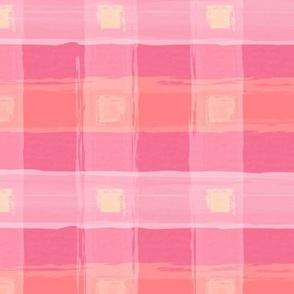 Watercolor Pink Plaid XL