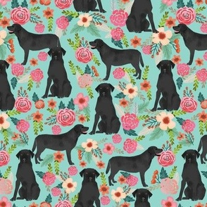 black lab florals fabric labrador retriever floral fabric