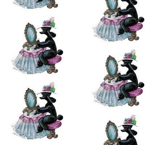 Black Poodle Dressing Table