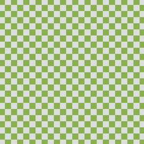 Ferny Green and Silver Mist Checkerboard