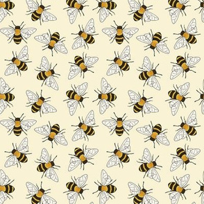 Busy Bees on buttermilk - small-medium scale
