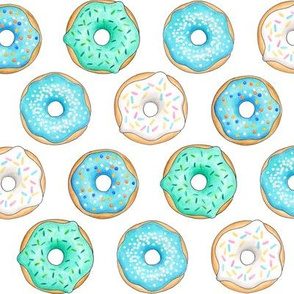 Iced Donuts - Blue 2 inch donuts