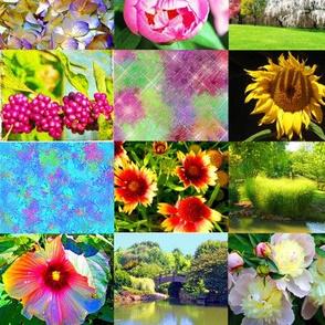Flower and Garden Collage