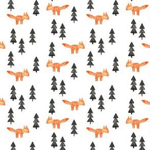 fox woods || orange watercolor