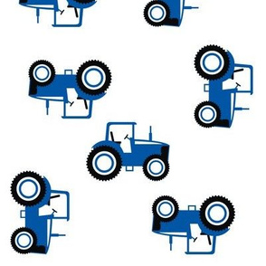 Tractor Toss on Blue