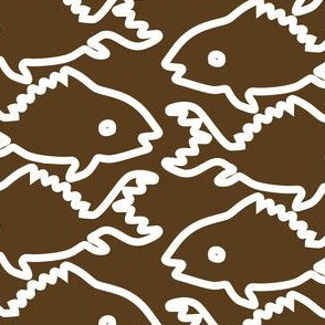 Fishes-1-white-outlines-BROWN