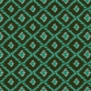 Green tweed rhombus