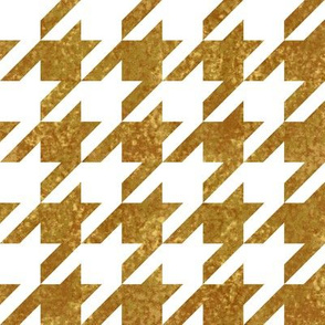 The Houndstooth Check ~ Gilt Patina