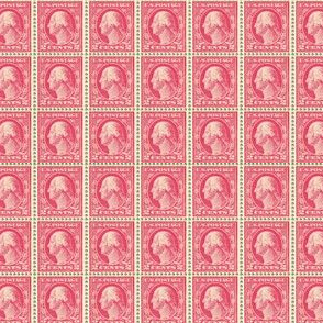 1912 George Washington two-cent red stamp sheet