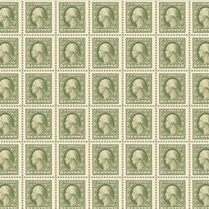1908 George Washington 8-cent olive green stamp sheet