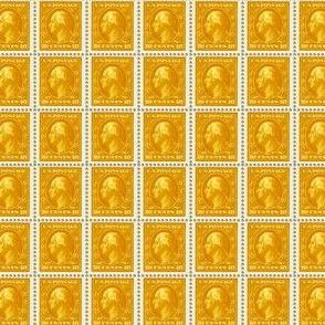 1908 George Washington 10-cent gold stamp sheet