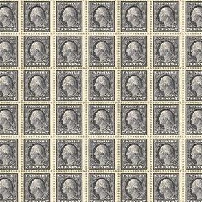 1912 George Washington black 7-cent endless stamp sheet