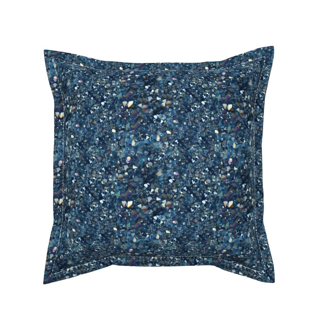 Serama Throw Pillow featuring Stones // Aqua Aura Quartz Crystal  by stars_and_stones