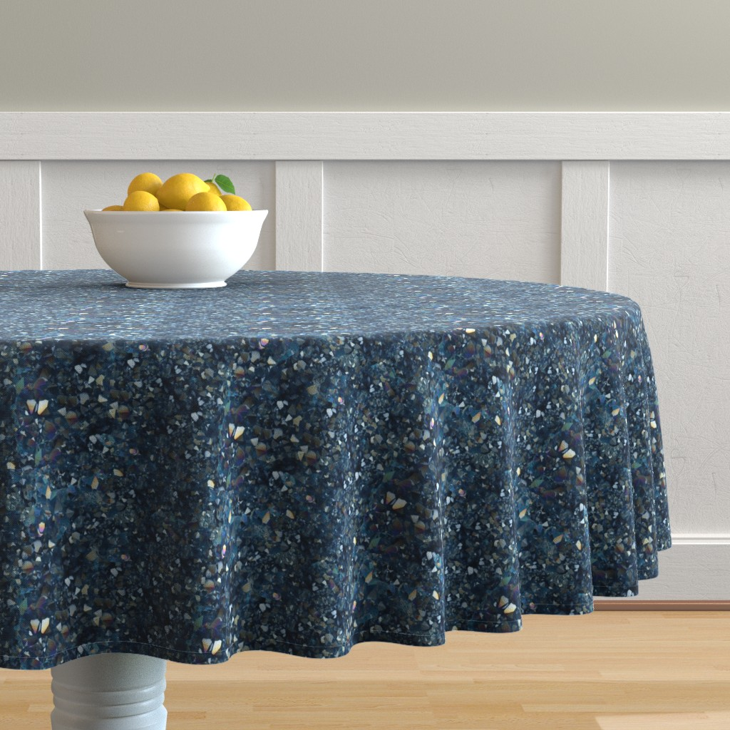 Malay Round Tablecloth featuring Stones // Aqua Aura Quartz Crystal  by stars_and_stones