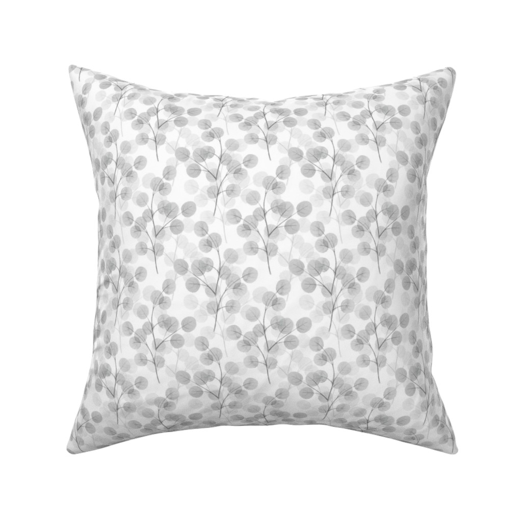 Catalan Throw Pillow featuring Branches with round leaves 11 by gribanessa
